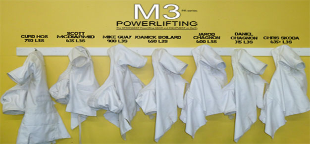 M3 Bench Shirts on Hooks